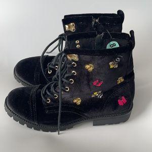 Betsey Johnson Bugsy Velvet Boots